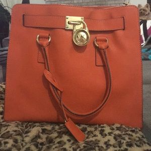 Orange Hamilton Michael Kors purse
